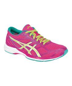 Love this Hot Pink & Emerald GEL-DS Racer® Running Shoe on #zulily! #zulilyfinds