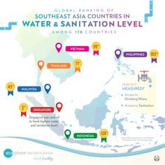 Most of the Southeast Asia Region needs water filters, meaning that it is not safe to drink straight from the tap.   Since Water is a primary basic need for all, it is the practical choice investing a Home Water Purifier gadget for your home. Water And Sanitation, Safe Drinking Water, Water Safety, Water Filters, Water Purification, Southeast Asia, Gadget, Investing, Knowledge