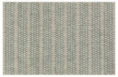 Stewart Outdoor Rug, Gray/Teal