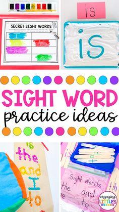 Kindergarten Sight Words List, Preschool Sight Words, Teaching Sight Words, Sight Word Activities, Preschool Learning Activities, Preschool Curriculum, Preschool Kindergarten, Toddler Preschool, Homeschooling