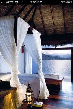 Inspired Spaces | Bedroom | Room With A Few | Canopy Bed | Thatched Roof