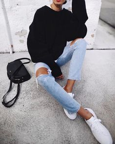 The Best Simple Fresh Outfits Ideas For Summer 38 Fashion Mode, Look Fashion, Fashion Outfits, Fashion Ideas, Sneakers Fashion, Casual Fall Outfits, Summer Outfits, Cute Outfits, Everyday Outfits