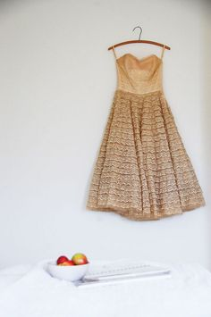 perfect way to display a too small vintage dress