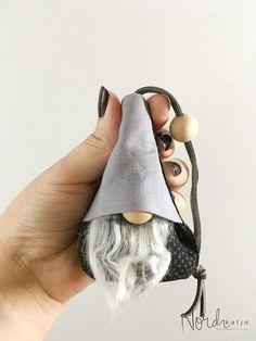 Portachiavi di Gnome scandinavo Tomte Nisse Tonttu Gnome