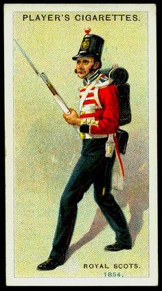 Cigarette Card - Royal Scots, 1854