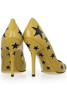 Dloce & Gabbana Yellow Pumps with Navy Stars