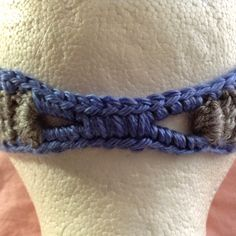 How to cover elastic for a crochet headband!