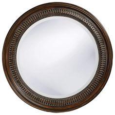 Howard Elliott Monmouth Round Mirror 26H x 26W x 2D - 2172