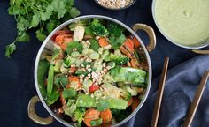 This Thai Vegetable Stir Fry is an easy to make, super tasty vegetarian (vegan) meal that the whole family will love. Recipe includes Thermomix method.