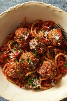 This fast version of spaghetti and meatballs with red gravy is ready in less than 30 minutes, but you'll be chopping, stirring and monitoring heat — actively working — from start to finish. You'll be busy, but not frantic, and rewarded not only with the twirling of pasta in half an hour, but with the satisfaction that you made every second count. (Photo: Melina Hammer for The New York Times)