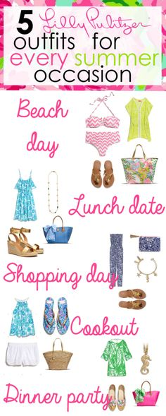 5 Lilly Pulitzer Outfits for Every Summer Occasion