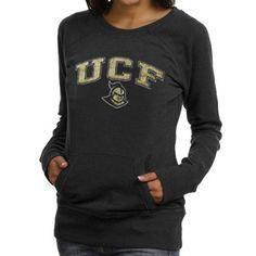 c58dbb314e UCF Knights Ladies Scoop Neck Fleece Sweatshirt - Black Scoop Neck