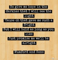 Mumford and Sons   Lover of the Light   Words added on pinwords.com