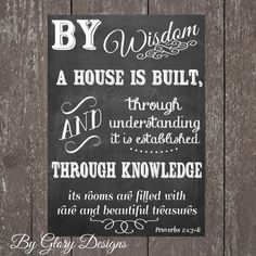 Scripture Art bible verse Proverbs 24 36 Digital by glorydesigns, Chalkboard Bible Verses, Scripture Quotes, Bible Scriptures, Chalkboard Art, Printable Scripture, Gospel Quotes, Scripture Pictures, Bible Art, Home Quotes And Sayings