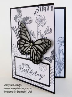 Stampin up black and white butterfly