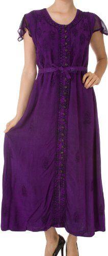 Sakkas 392BV Stonewashed Embroidered Cap Sleeve Maxi Long Dress - Purple - S/M Sakkas,http://www.amazon.com/dp/B00B1ZOVIU/ref=cm_sw_r_pi_dp_Y8Mxtb1Z0PXD1NQ1