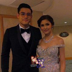 The Dashing and Gorgeous Couple ❤  XianAndKim AtSMB @chinitaprincess @xianlimm #KimXi
