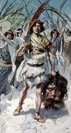 Global Gallery 'David Takes The Head of Goliath To Jerusalem' by James Tissot Framed Painting Print Size: Bible Photos, Bible Pictures, Jesus Pictures, Jewish Art, Religious Art, David Bible, Religion, Bible Illustrations, David And Goliath