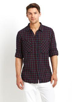 BTNS Flannel Plaid Shirt