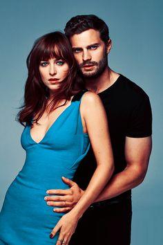 Jamie Dornan and Dakota Johnson Fifty shades of grey .