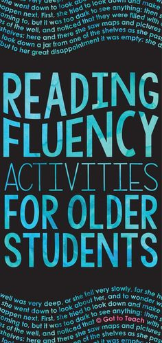 What do you do when older students still struggle with fluency?