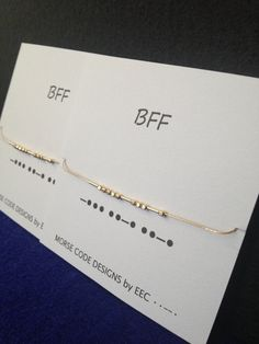 Celebrate your connection with your best friend with matching Morse Code Bracelets. Bracelets feature Sterling Silver dots and dashes, hand