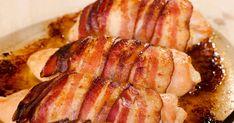 Chicken Thigh Recipes, Chicken Wraps, Slow Cooker Alfredo Chicken, Bacon No Forno, Batch Cooking, Cooking Recipes, Frango Bacon, Roasted Sprouts, Garlic