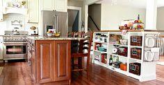IKEA billy bookshelves turned into a kitchen island