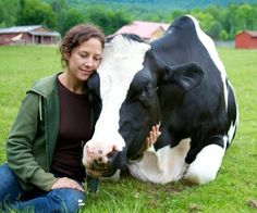 ''Farm animals love a gentle touch. That's why I don't eat them. They are kinder than most human beings.''
