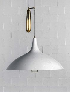 Paavo Tynell, pendant light, model 1965, ca.1950s. Manufactured by Idman Oy, Finland