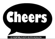 Free Printable Cheers Speech Bubble Prop