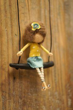 Vintage style OOAK fairy necklace por DORIMU en Etsy