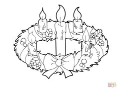 Facts Advent Wreath And Candles Coloring Page Free Printable