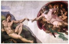 A beautiful poster of Michelangelo's Renaissance fresco painting from the Vatican's Sistine Chapel in Rome - God's Creation of Adam! Ships fast. 11x17 inches. Need Poster Mounts..?