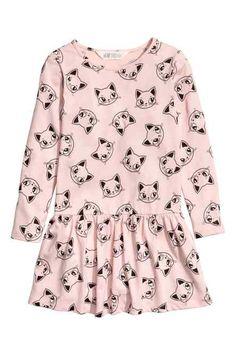 Tricot jurk met print