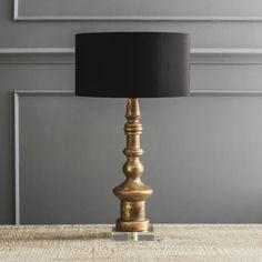 Ardenne Gold Wooden Table Lamp - Bedside Lamps - Bedroom - Kitchen, Bed & Bath