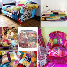 Surya brings the patchwork trend in home decor to rugs, pillows and poufs!