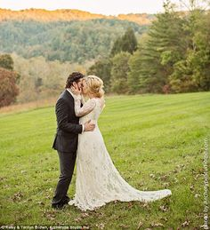 Kelly Clarkson and Brandon Blackstock married at Blackberry Farms just outside Nashville, Tennessee