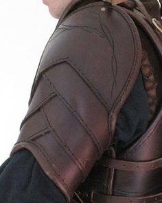 Overlapping Leather Pauldron