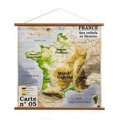 Toile carte de France Discipline - Am-Pm | kidZcorner