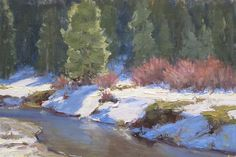 Fire and Ice by Kathleen Dunphy Oil ~ 8 x 12