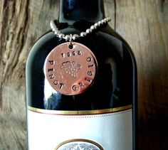 Personalized Wine Bottle Tag  Wine Cellar Tag  by TheVineyards, $7.00