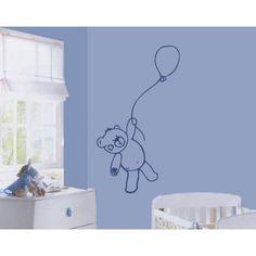 sticker quarto bebe urso e balão