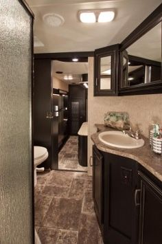 Beautiful Bathroom in my Road Warrior RV! ~ ok, if this chick can have something this pretty in her freaking RV, I think I can do it in my HOUSE.