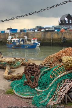 Chains and Fishing Nets, Whitstable. (C) Mark Anderson :: Geograph Britain and Ireland Alaska Salmon Fishing, Whitstable Kent, Vbs Themes, King Salmon, South East England, Fishing Adventure, Character Aesthetic, Background S, Fishing Boats