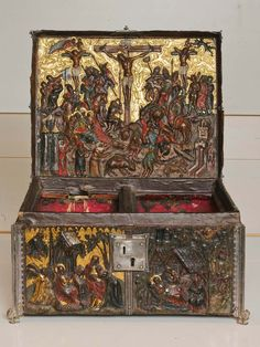 Leather casket with scenes from the life of Christ in bas relief, Eastern Netherlands (?), c. 1390