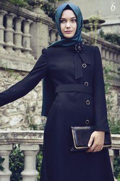 30 Modern Ways to Wear Hijab - Hijab Fashion Ideas Abaya Fashion, Modest Fashion, I Love Fashion, Fashion Outfits, Fashion Ideas, Women's Fashion, Hijab Gown, Hijab Outfit, Mode Abaya