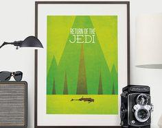 Star Wars Minimalist Poster - Rückkehr der Jedi-Ritter