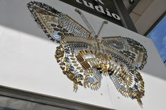 """Union Hardware's """"Bethesda Butterfly,"""" made of 500 cabinet hardware parts"""