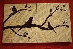 Good inspiration for homemade wall art!